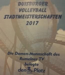 Urkunde Stadtmeistershcaften 2017